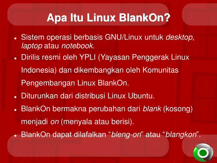 Apa Itu Linux BlankOn?