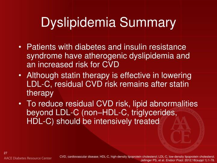 Dyslipidemia Summary