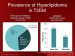 prevalence of hyperlipidemia in t2dm
