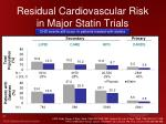 residual cardiovascular risk in major statin trials
