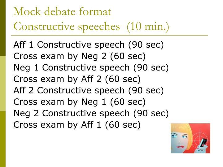 Mock debate format