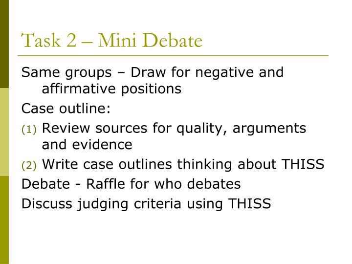 Task 2 – Mini Debate