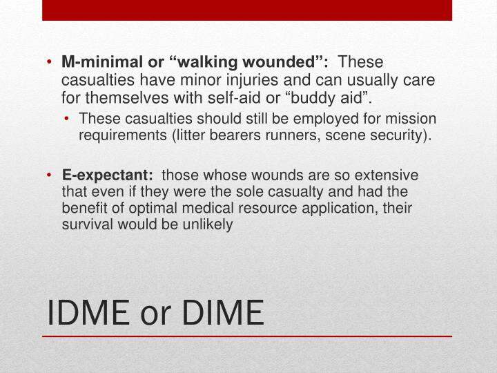 """M-minimal or """"walking wounded"""":"""