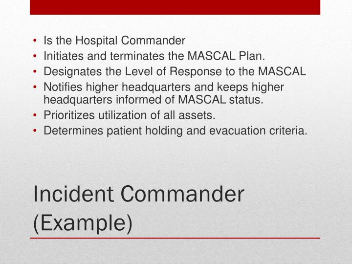 Is the Hospital Commander