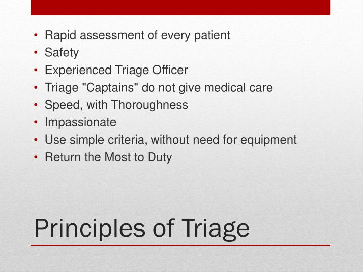 Rapid assessment of every patient