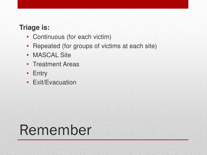 Triage is: