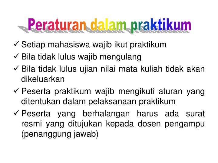 Peraturan dalam praktikum