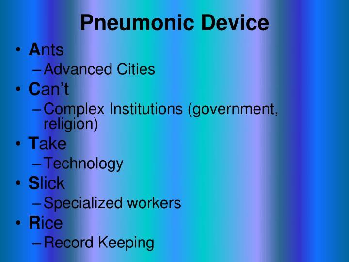 Pneumonic Device