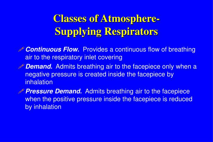 Classes of Atmosphere-