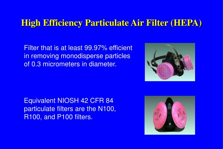 High Efficiency Particulate Air Filter (HEPA)