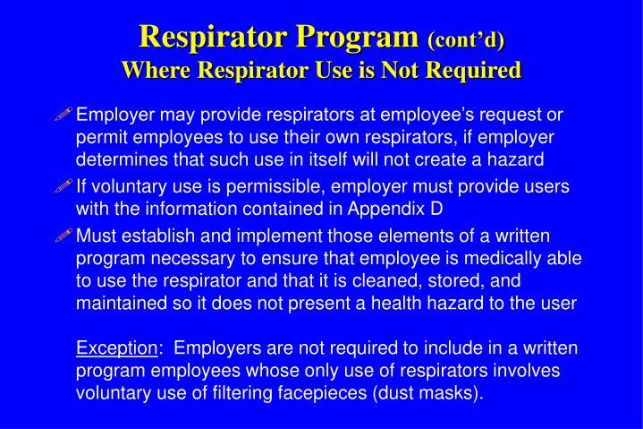 Respirator Program