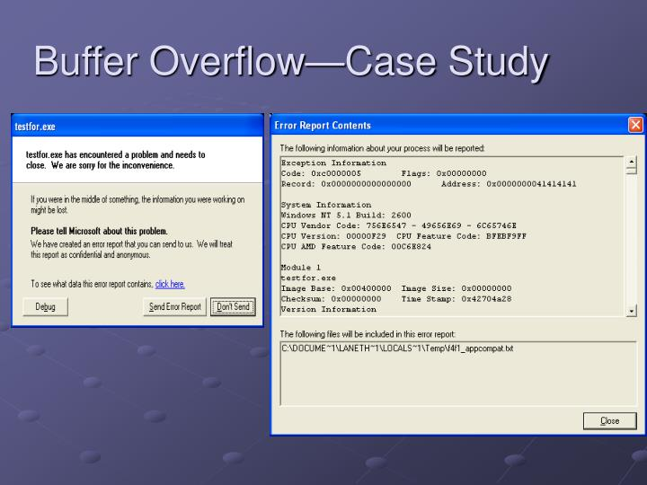 Buffer Overflow—Case Study