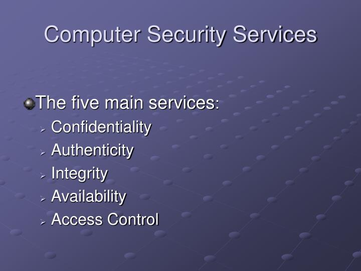 Computer Security Services