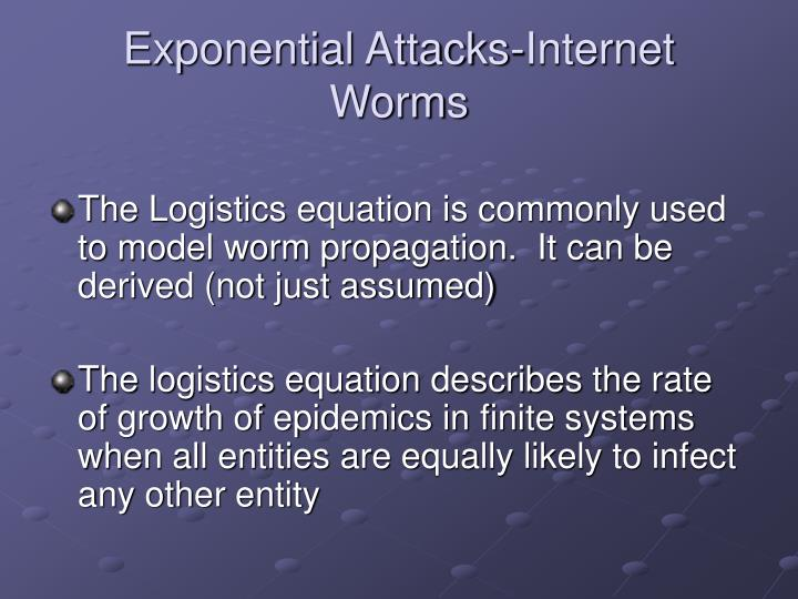 Exponential Attacks-Internet Worms