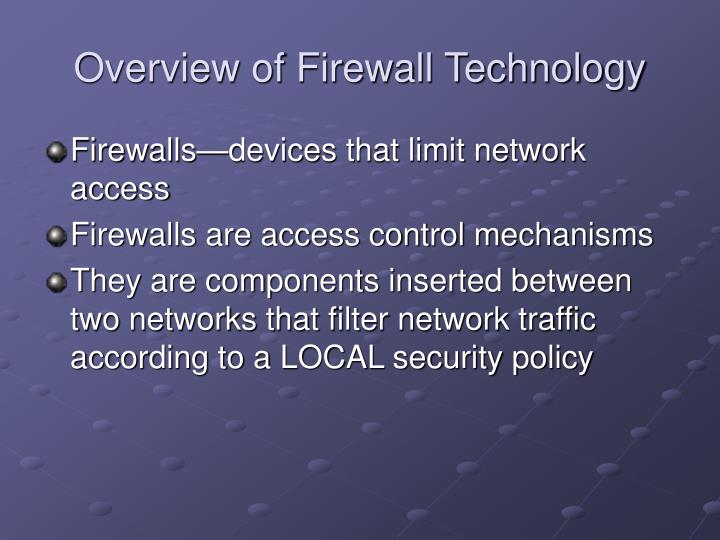 Overview of Firewall Technology
