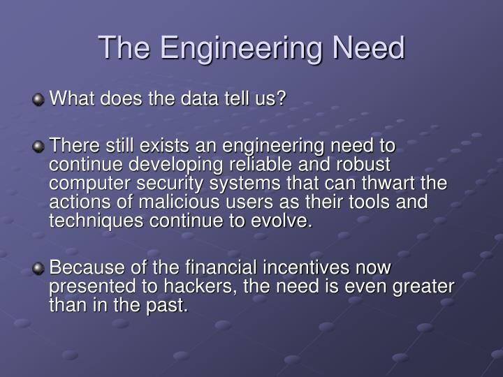 The Engineering Need