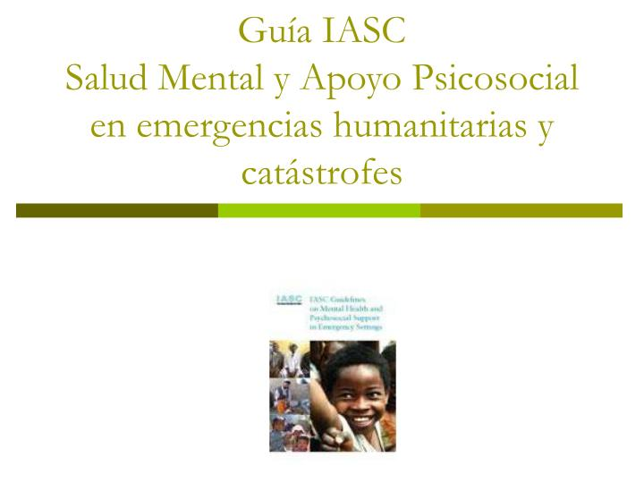Guía IASC