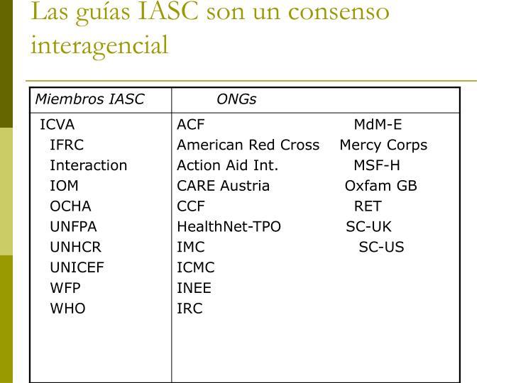 Las guías IASC son un consenso interagencial
