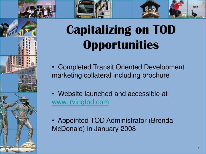 Capitalizing on TOD Opportunities