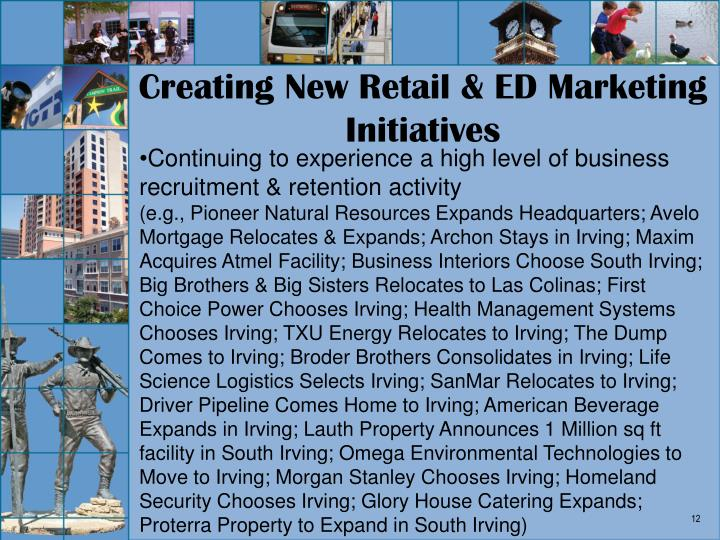 Creating New Retail & ED Marketing Initiatives
