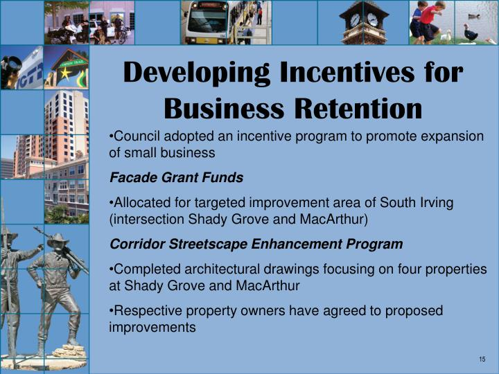 Developing Incentives for