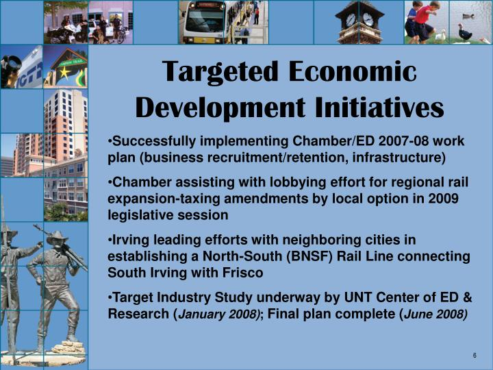 Targeted Economic Development Initiatives