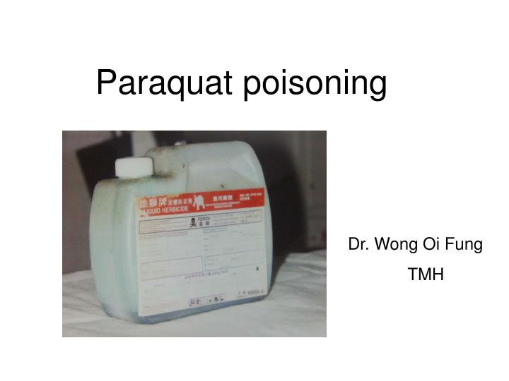 Paraquat poisoning