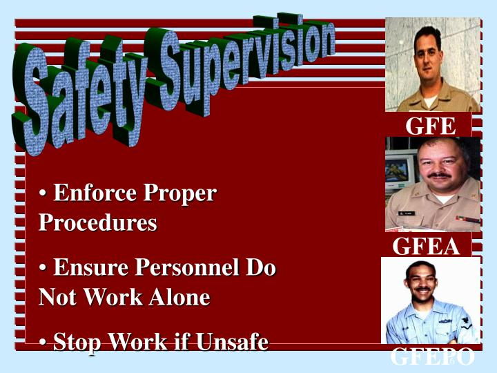 Safety Supervision