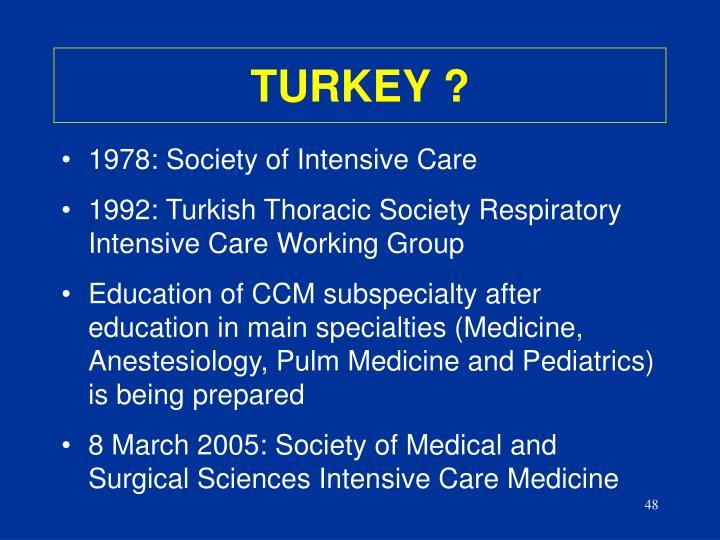 TURKEY ?