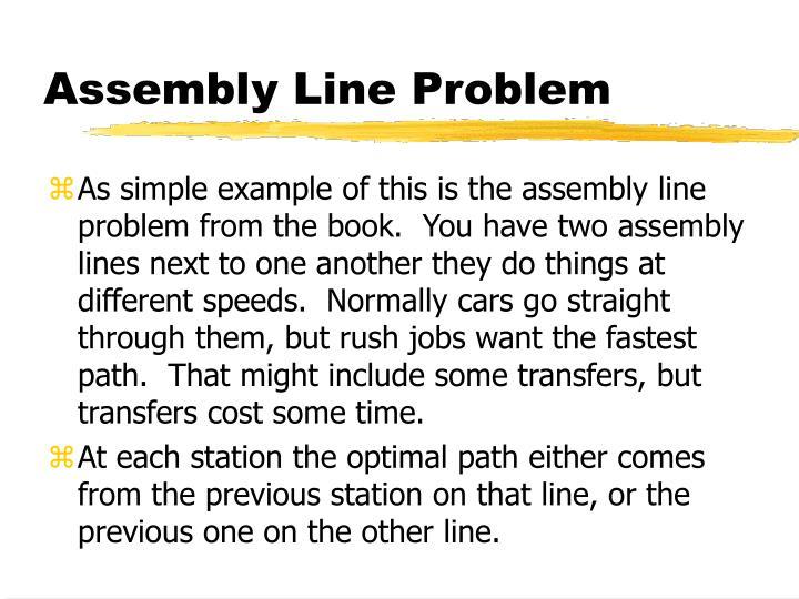 Assembly Line Problem