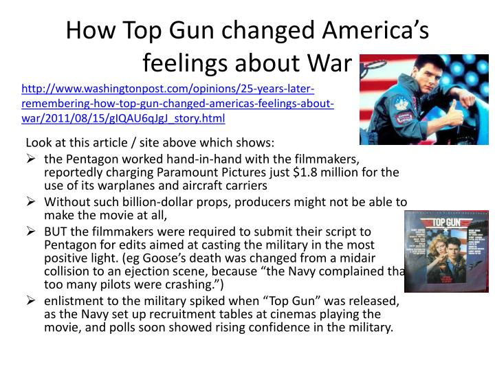 How Top Gun changed America's feelings about War