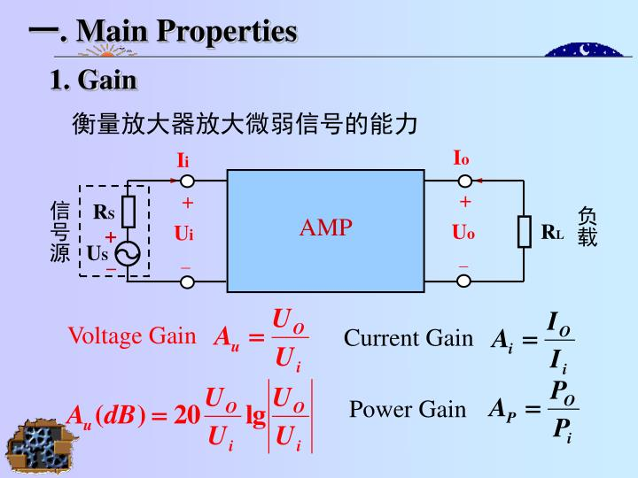 Main properties
