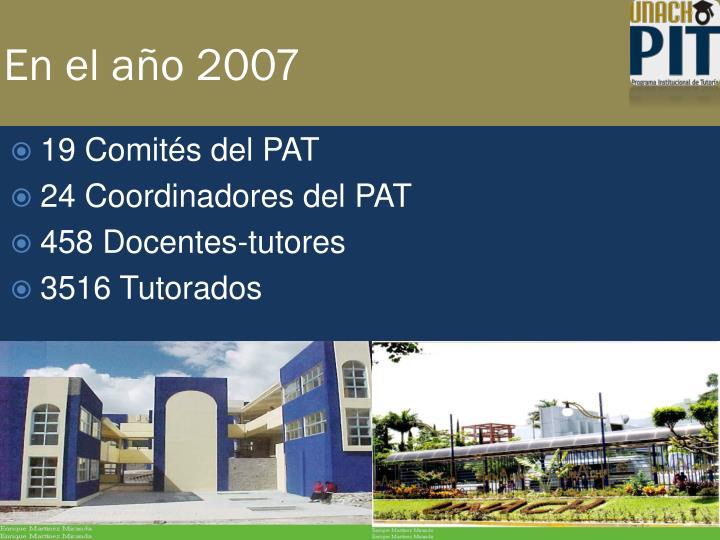En el año 2007