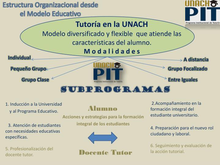 Estructura Organizacional desde el Modelo Educativo