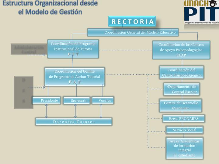 Estructura Organizacional desde el Modelo de Gestión
