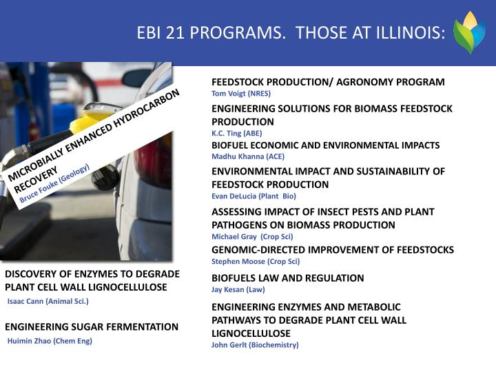 ebi program leaders