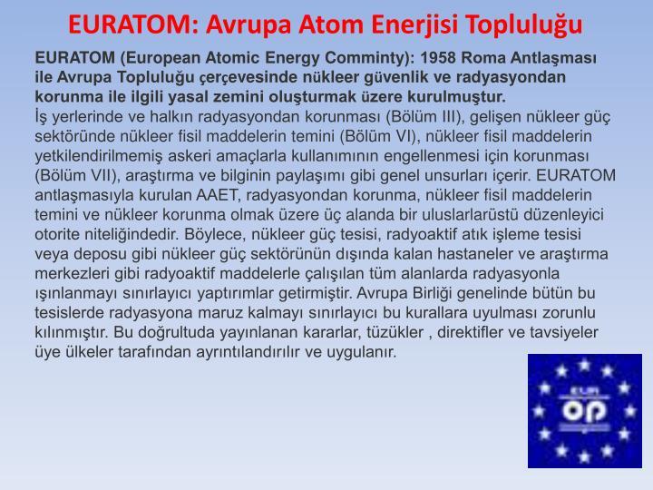 EURATOM: Avrupa Atom Enerjisi Topluluğu