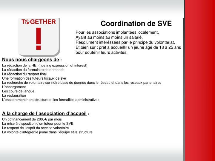 Coordination de SVE