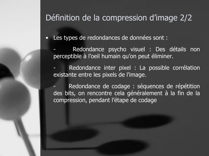 Définition de la compression d'image 2/2