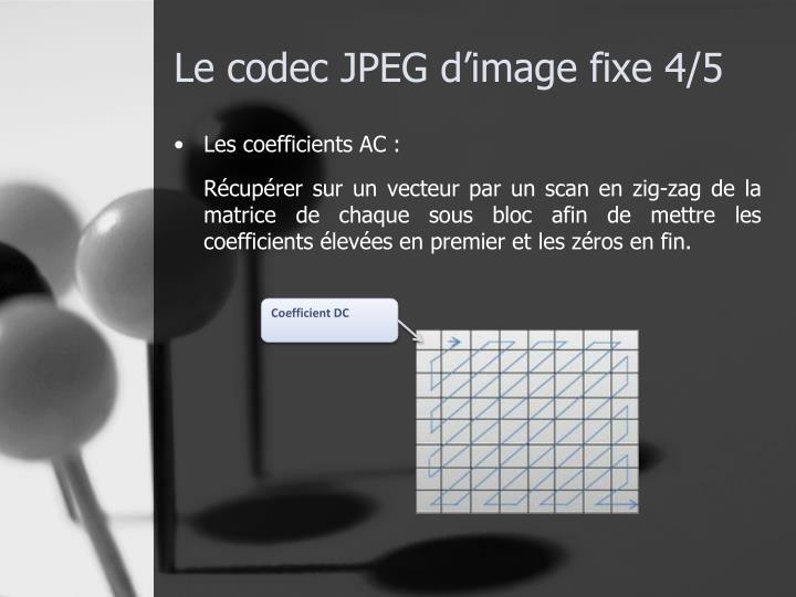 Le codec JPEG d'image fixe 4/5