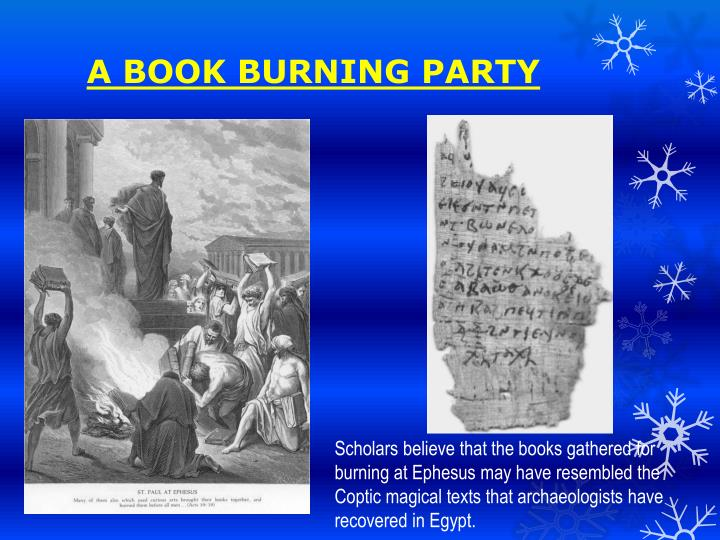 A BOOK BURNING PARTY