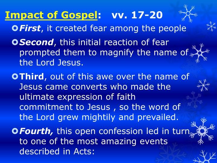 Impact of Gospel
