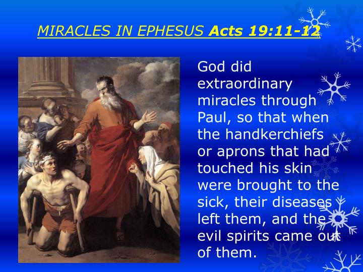 MIRACLES IN EPHESUS