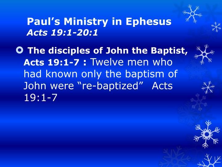 Pauls Ministry in Ephesus