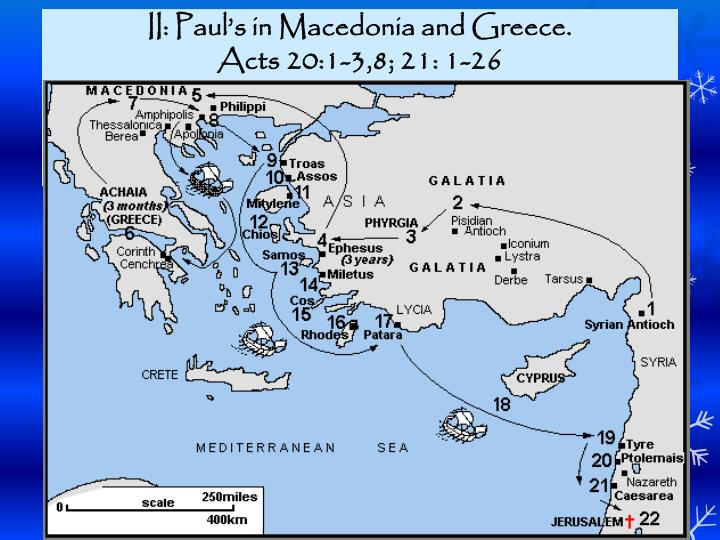 II: Pauls in Macedonia and Greece.