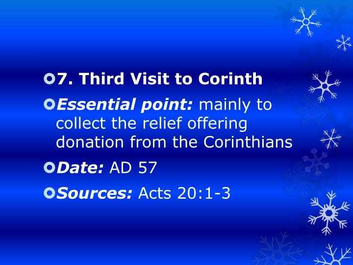 7. Third Visit to Corinth