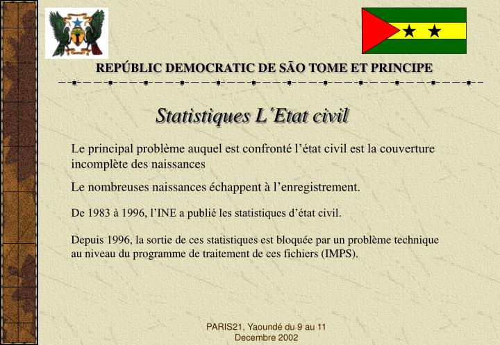 REPÚBLIC DEMOCRATIC DE SÃO TOME ET PRINCIPE