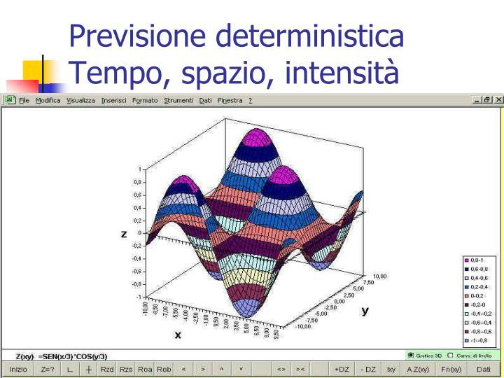 Previsione deterministica