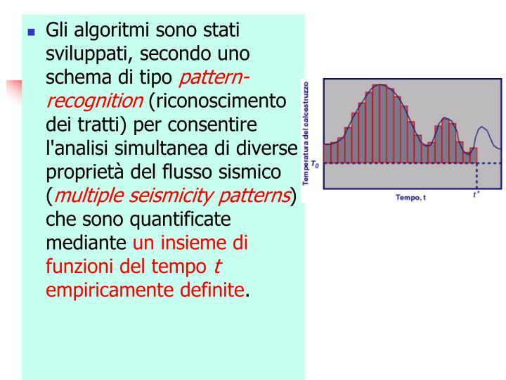 Gli algoritmi sono stati sviluppati, secondo uno schema di tipo