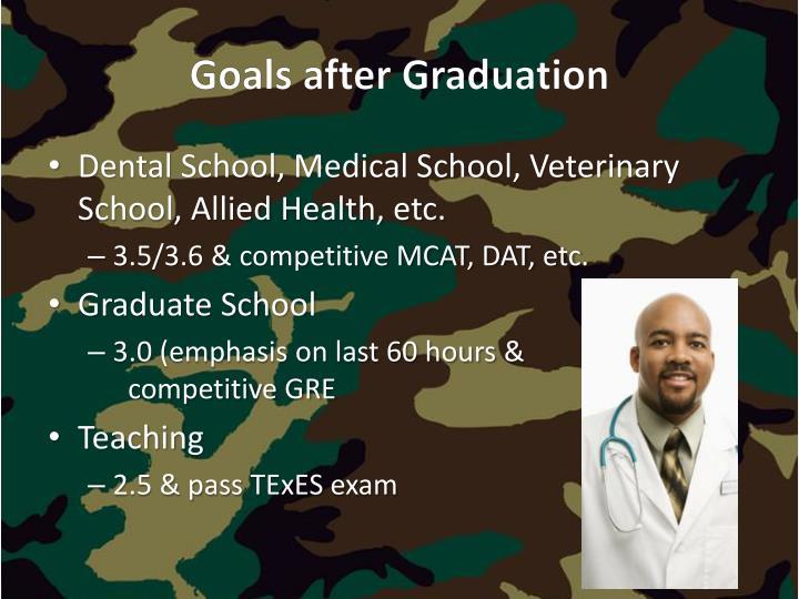Goals after Graduation